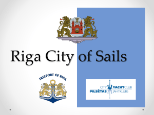 Riga City of Sails Riga is the capital and largest city of Latvia The