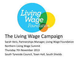 The Living Wage Campaign