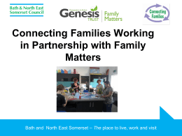 Family Matters - Bath and North East Somerset Council