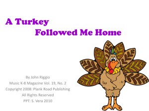 A Turkey Followed Me Home - Bulletin Boards for the Music
