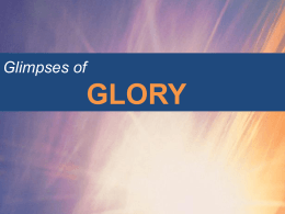 Glimpses of Glory - The Methodist Church of Great Britain