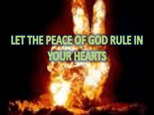 peace in your heart - Shield of Faith TV
