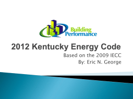 2012 Kentucky Energy Code