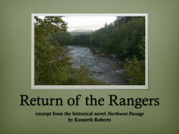 """Return of the Rangers"" powerpoint"