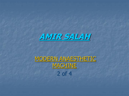 Anesthesia Machine Amir Salah 2 of 4