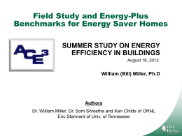 summer study on energy efficiency in buildings