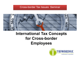 Cross-Border Immigration Presentation