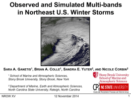Observed and Simulated Multi-bands in Northeast U.S. Winter
