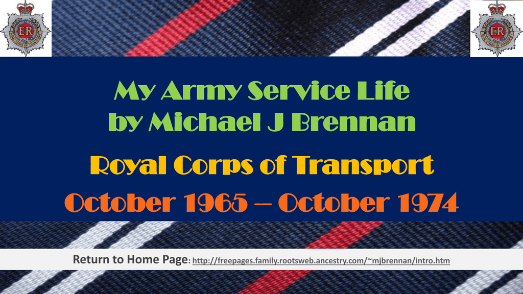 My Army Career Freepages