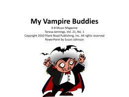 My Vampire Buddies - Bulletin Boards for the Music Classroom
