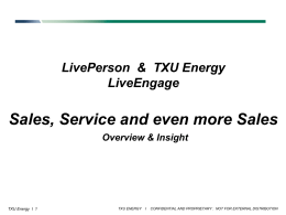 LP Engage - LivePerson Connect