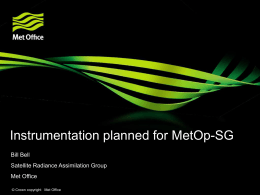 Instrumentation planned for MetOp-SG