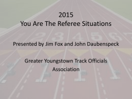 Power Point (2007 version) - Greater Youngstown Track Officials