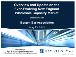 New England Wholesale Capacity Market