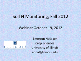 Soil N, Urbana, 2012 - Illinois Council on Best Management Practices