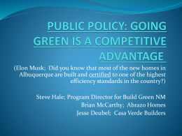 public policy: going green is a competitive advantage