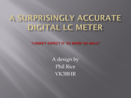 A Surprisingly Accurate Digital LC Meter (I didn`t expect it to work so