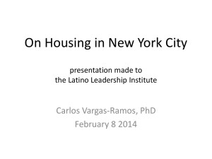 On Housing in New York City presentation made to the Latino