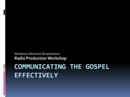 Communicating the Gospel Effectively