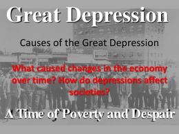 Causes of the Great Depression - Ms. Shauntee