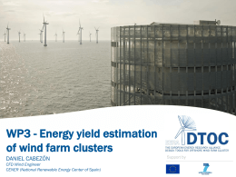 Energy yield estimation for offshore wind farms clusters - EERA-DTOC