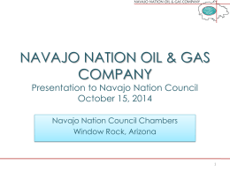 NAVAJO NATION OIL & GAS COMPANY Shareholder Representative