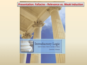 Fallacies: Relevance