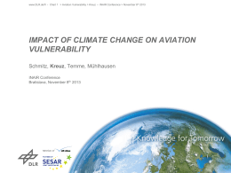 Impact of climate cHange on aviation vulnerability - mowe