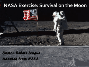 NASA Exercise: Survival on the Moon