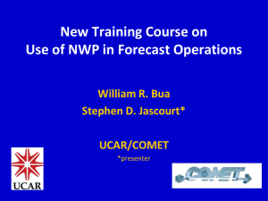 New Training Course on Use of NWP in Forecast Operations