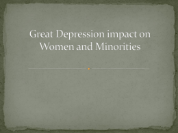 Great Depression impact on Women and Minorities