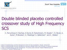Double blinded placebo controlled crossover study of High