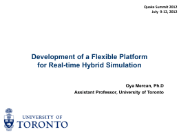 Real-time Hybrid Simulation