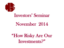 HFS.Seminar.November.2014 - Hayden Financial Services