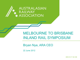 Bryan Nye - melbourne to brisbane inland rail symposium