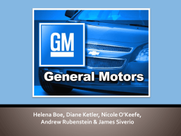 General Motors Today