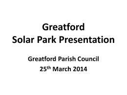 Proposed Solar Farm Greatford Presentation 25th MArch2014