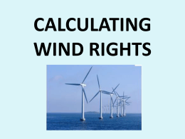 CALCULATING WIND RIGHTS