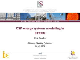 modeling dispatchability potential of csp in south africa