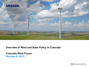 Vestas Wind and State Policy