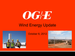 Utilities and Wind Energy by Mike Sheriff, OG&E