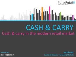 1. Channel overview of cash & carry and wholesale