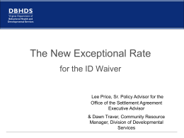 The New Exceptional Need Rate