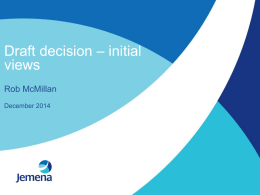 Jemena Gas Networks presentation on AER draft decision