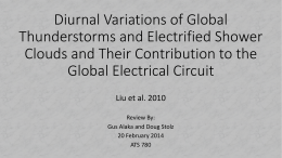 Contribution of Shower Clouds to the Global Circuit (Alaka and Stolz)