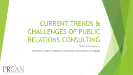 Current Trends & Challenges of Public Relations