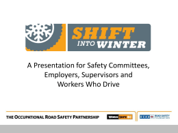 Occupational Road Safety Partnership