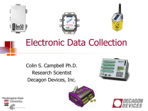 Section 6- Electronic data collection