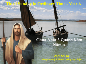 Third Sunday in Ordinary Time - Year A Chúa Nhật 3