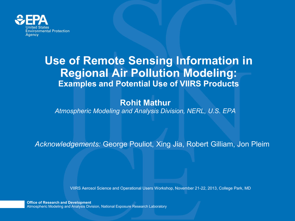 Use of VIIRS Aerosol Products in a Regional Air Quality Model